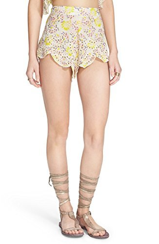 Free People Womens So Much Fun Eyelet Printed Casual Shorts Multi S by Free People