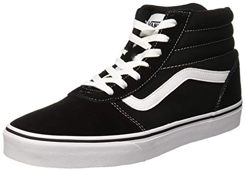 white Vans canvas Femme Hautes Baskets Hi Noir Black Suede suede canvas Iju Ward CZzCrqP