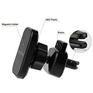 Magnetic Phone Holder for Car, FayTun Air Vent Car Phone Holder, 360 Degree Rotation-2 in 1 Universal Car Dashboard/Windshield/Air Vent Mount Holder for GPS Android& iOS Smartphones and Mini Tablets