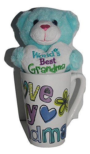 Blue Mother's Day Gift Basket Bundle For Mom Set Plush Bear and Keepsake Mug