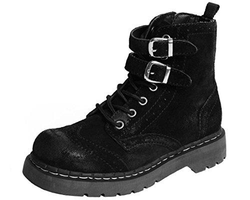 - T.U.K. Shoes T2247 Womens Boots, Brogue Suede Boot - US: Women 11 Black