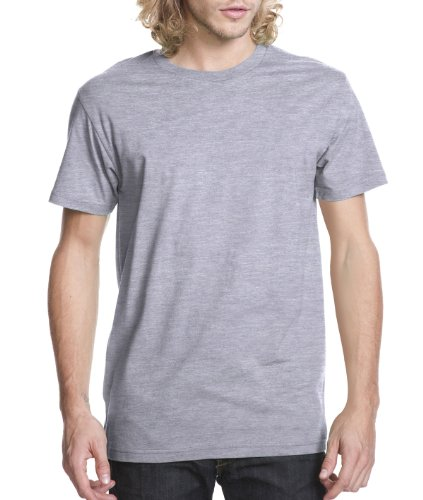 Next Level Mens Premium Fitted Short-Sleeve Crew T-Shirt - X-Large - Heather (X-large Grey T-shirt)
