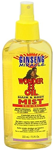Ginseng Miracle Wonder 8 Oil Hair & Body Mist, 7.5 oz (Pack of 3)