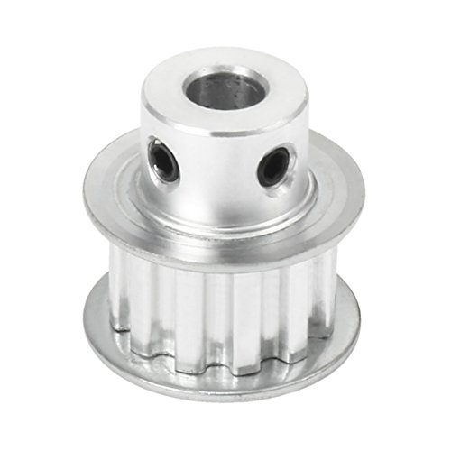 uxcell Aluminum XL 12 Teeth 6mm Bore Timing Belt Pulley Flange Synchronous Wheel for 10mm Belt