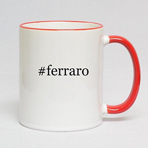 #ferraro - Hashtag Red Handle 11oz Coffee Mug