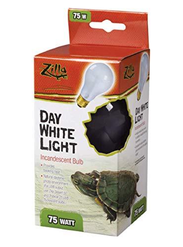 Zilla (3 Pack) Incandescent Bulb, Day White Light & Heat, 75 Watt