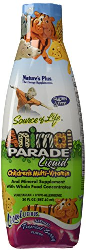 Nature's Plus - Animal Parade Liquid Multi-Vitamin - Tropical Berry Flavor, 30 fl. oz. (Liquid Multivitamins)