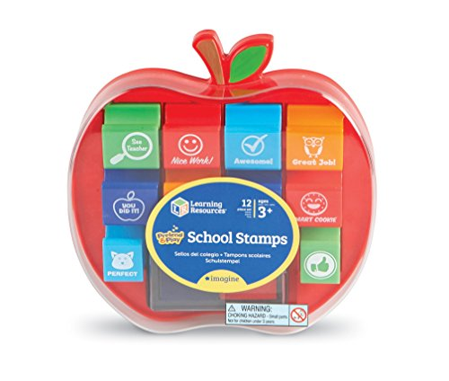 Learning Resources School Stamps, Set of 10 (Jumbo Teacher Stamps)