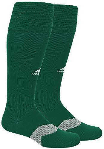 adidas Unisex Metro IV OTC Soccer Sock (1-Pair), Collegiate Green/White/Clear Grey, 13C-4Y