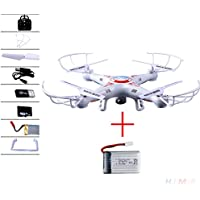 Cewaal X5C-1 2 Battery Explorers 2.4Ghz 4CH 6Axis Gyro RC Quadcopters Drone UFO Airplane UAV RTF White