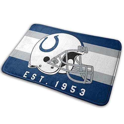 Jacoci Custom Indianapolis Colts Doormat Non Slip Door Mat Rug Size 15.7