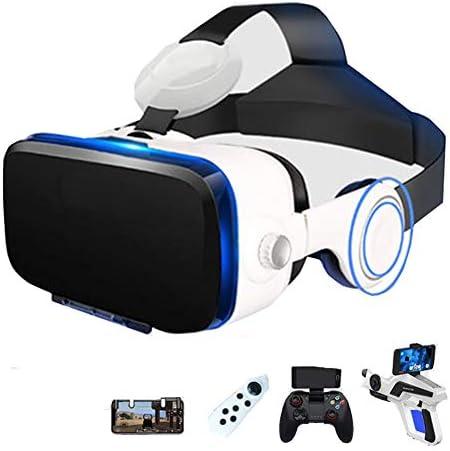 バーチャルリアリティのメガネ3D 4.7〜6.2インチのiPhone / Androidスマートフォンに最適、 視聴覚統合 ゲーム映画,Black,Package8