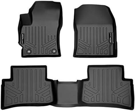 SMARTLINER Custom Fit Floor Mats 2 Row Liner Set Black for 2019-2021 Toyota Corolla Hatchback