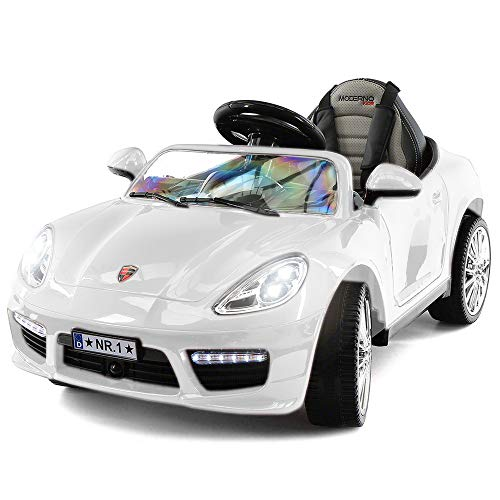 Kiddie Roadster 12V Ride On Toy Car Battery Powered W/ Dining Table, Leather Seat, LED Lights
