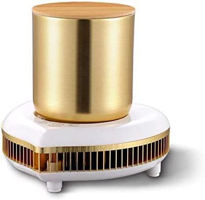 ポータブル飲料クーラークイッククーラーカップデスクトップ冷蔵庫急速冷却カップ断熱カップビールコーラジュースドリンク用デスクトップミニ冷蔵庫,メタリック