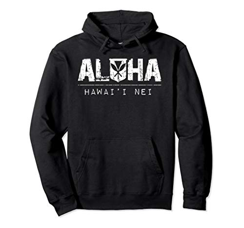 Aloha Kanaka (white ink) Hoodie by Hawaii Nei All Day