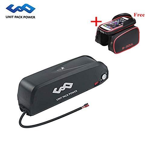 UnitPackPower 36V 15.6AH Lithium ion Battery Hailong Type for 18650 Cells + 42V 2A Charger + USB Port, fits 36V 250W/350W/500W E-Bike Motor/Electric Mountain Bike/Road Bike/Cyclocross Bike (Black)