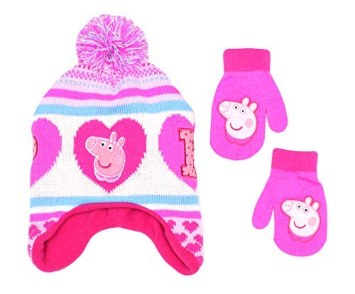 Peppa Pig Beanie & Gloves 2 Piece Set for 2T-5T, White
