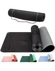 KG Physio 6 mm yogamattor för kvinnor och män – TPE-material miljövänligt – halkfri matta perfekt för yogaposer