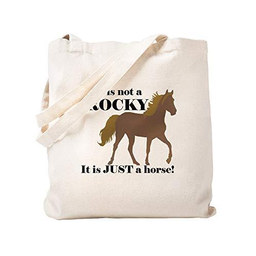 CafePress Not Rocky. Just Horse Natural Canvas Tote Bag, Cloth Shopping Bag