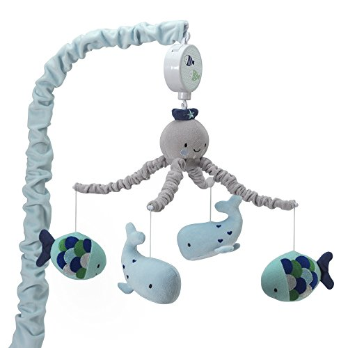 Lambs & Ivy Oceania Musical Nursery Crib Mobile - Ocean, Whale, Underwater Theme