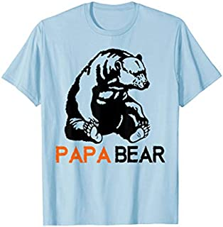 Cool Gift Papa Bear  Papa Bear  Cool Papa Bear  Women Long Sleeve Funny Shirt / Navy / S - 5XL