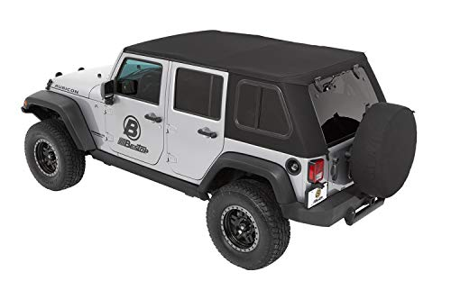 (Bestop 5486317 Trektop Pro for Jeep Wrangler JK 4-Door in Black Twill)