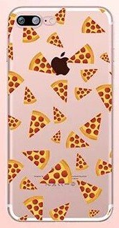 iPhone 8 Plus/iPhone 7 Plus Case(5.5inch),Blingy's Food Design Clear Flexible Soft Rubber TPU Case for iPhone 8 Plus/iPhone 7 Plus (Pizza Style #2)