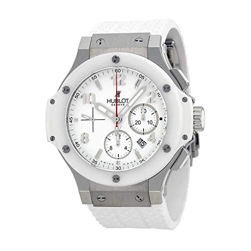 Hublot Big Bang St. Moritz Chronograph White Dial White Rubber Mens Watch 301.SE.230.RW ()