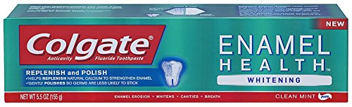 Colgate Enamel Health Whitening Toothpaste, Clean Mint Paste, 5.5 Ounce (Pack of 6)