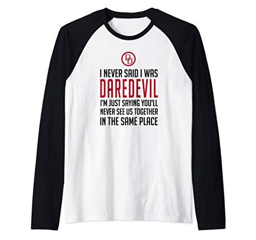 - Marvel Daredevil I Never Said I Was Daredevil Quote Logo Raglan Baseball Tee
