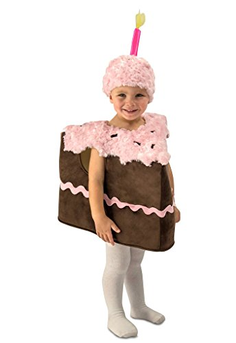 Faerynicethings Toddler - Child Piece of Chocolate Birthday Cake Costume - Toddler 18 Months - 2T -