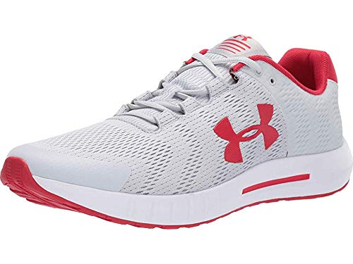 Under Armour Men's Micro G Pursuit BP Running Shoe, Halo Gray (102)/White, 10