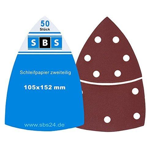 50 Pezzo SBS fogli carta abrasiva strappo 105x152 mm Grana 100 Prio