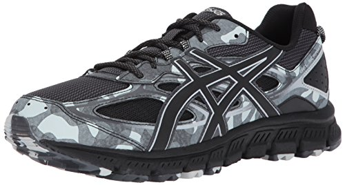 Runners Gel Asics (ASICS Mens Gel-Scram 3 Running Shoe, Black/Glacier Grey, 8 Medium US)