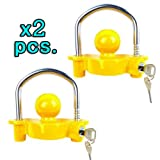 Thegood88 Lot of 2 Universal Trailer Ball Hitch Coupler Lock Ball Tongue 1-7/8'' 2'' 2-5/16'' TG0452
