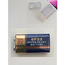 100 piece 9V Carbon-Zinc Ultra Heavy Duty RSS Bulk Battery 6F22 Mn1604 600mAh replacement for 9V 6LR61 Alkaline Battery