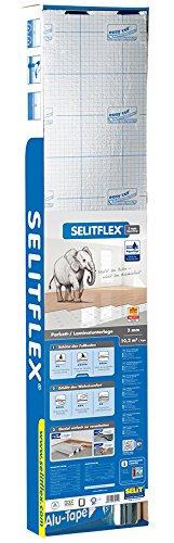Selitflex Parkett- und Laminatunterlage 3 mm, 2 in 1