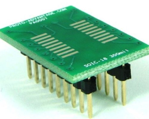 Proto-Advantage SOIC-18 to DIP-18 SMT Adapter (1.27 mm Pitch, 300 mil Body) ()