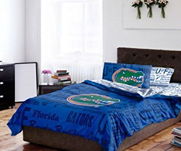 Florida Gators NCAA TWIN Comforter & Sheet Set (4 Piece Bed In A ()