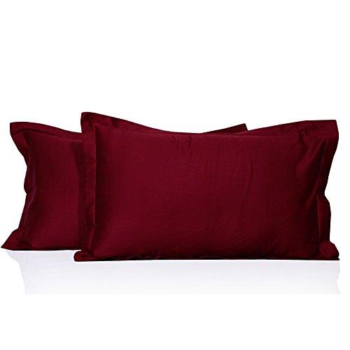 - Opulence Bedding Egyptian Cotton, Elegant Italian Finish 2-Pc Pillow Shams Set(Queen,Burgundy)