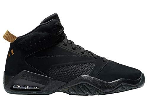 - Jordan Lift Off - Men's Black/Metallic Gold Leather Basketball Shoes 13 D(M) US