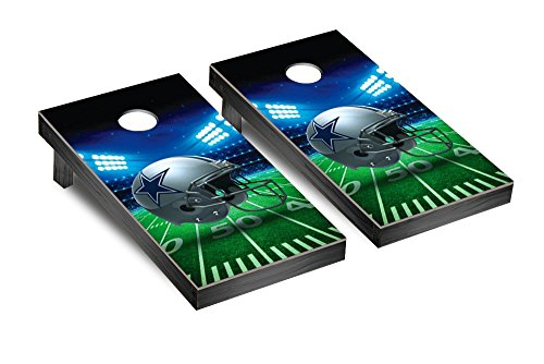 NFL Dallas Cowboys Stadium Version Football Corn hole Game Set, One Size by Victory Tailgate (Image #1)