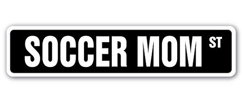 Cortan360 SOCCER MOM Street Sign coach assistant game umpire referee| Indoor/Outdoor | 8