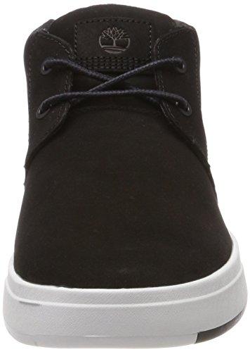 Timberland Herren Davis Square Chukka Boots Schwarz (Black Nubuck 001)