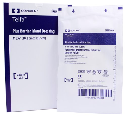 Telfa Plus Barrier Sterile Island Wound Dressing 4