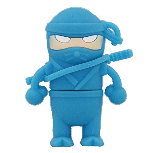 Amazon.com: Azul modelo de Ninja Pen Drive USB Flash Drive U ...