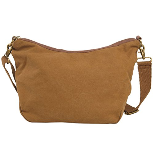 NiSeng Canvas Vintage Lässige Multifunktions Freizeit Umhängetasche Schultasche für Herren Kaffee EG5jxMgnx