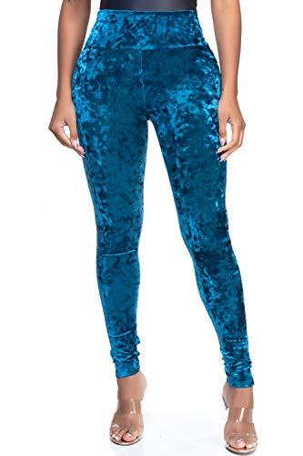 - Women's Junior Plus J2 Love Velvet High Waist Leggings, 1X, Crushed Blue Turquoise
