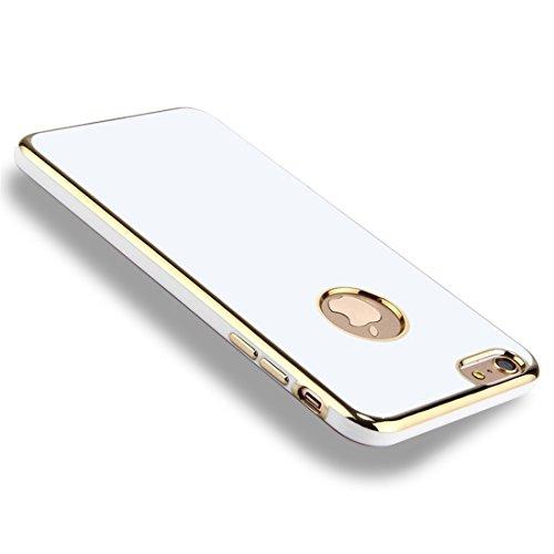 Phone Taschen & Schalen Für iPhone 6 Plus & 6s Plus Galvanotechnik Soft TPU Schutzhülle ( Color : White )
